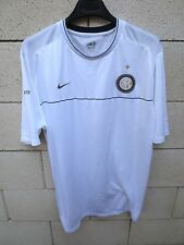 Maillot INTER MILAN Nike entrainement maglia calcio training shirt blanc rare XL