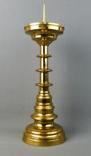 Großer Scheibenleuchter, Messing, Neogotik, 19. Jahrhundert, 45,5 cm