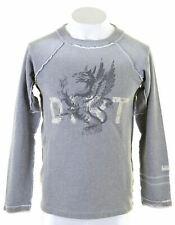 DIESEL Mens Sweatshirt Jumper Small Grey Cotton  HO08