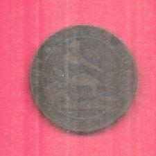 SPAIN SPANISH KM663 1870-OM VF-VERY NICE ANTIQUE 10 CENTIMOS COIN