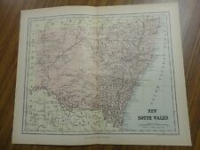 Nice color map of New South Wales. Printed 1891. Chambers Map.