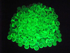10 YELLOW VASELINE URANIUM GLASS LUCKY ROCK GEMS GLOWS          (( id154655))