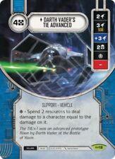 DARTH VADER'S ADVANCED TIE Card + Die Star Wars Destiny Empire at War RARE m/nm