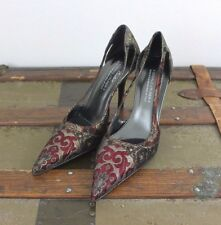 DONALD J PLINER Couture Collection Leather & Design Heel Womens 8.5 M Italy EUC