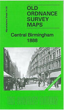 Old Ordnance Survey Map Central Birmingham 1888 City New Street Snow Hill