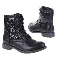 NEU Designer Damen Styeno Schuhe Stiefeletten Boots Lackleder Optik Black Gr.41