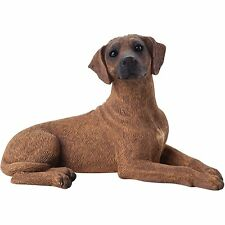 Sandicast Sculpture: Small Size Rhodesian Ridgeback, Lying (Ss13201)