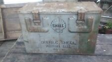 DOUBLE SHELL OIL CAN ARMY AMMO BOX 1941 WW2