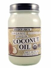 Trader Joe's (Trader Joes) Organic Virgin Coconut Oil 16 oz Jar NEW
