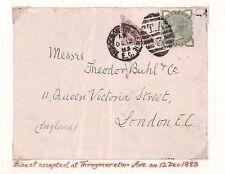 AP1883.3 1 1880 S GB Penny lilac Bisect variétés {2} accepté et facturés