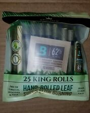 25 x King Palm Natural Leaf Wraps (King Size) (1 Pack 25 Rolls)