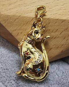 Thomas  Sabo 1838-471-7 Charm-Anhänger Katze Sternenbild gold Ag925