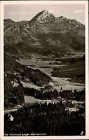 Neuhaus Bayern s/w Postkarte 1956 Gesamtansicht Panorama Blick zum Wendelstein