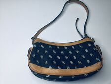 Dooney Bourke Signature Small Bag Purse Leather Trim,