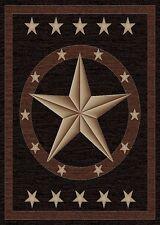 5X8 Lodge Cabin Southwest Southwestern Western Star Black Brown Texas Area Rug