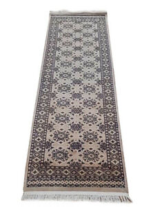 Lovely Ivory runners for wood stair 2' 6'' x 6' 8'' Authentic Handmade Jaldar