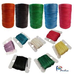 Wachsband Fäden Polyester Gewachstes Garn Schmuck Perlenfäden 5 M Farbauswahl
