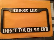 Don't Touch My Car Plastic License Plate Tag Holder Frame JDM drift Racing