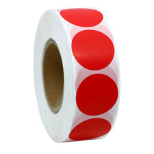 Red Color Coding Dot Labels 25mm Round Natural Paper Stickers Adhesive Label