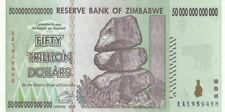 Zimbabwe 2008 50 TRILLION DOLLARS BANKNOTE, AA P-90 New UNC 100 TRILLION SERIES