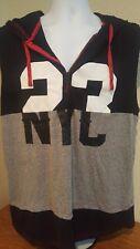 Mens Hoodie XL Bushwick Sleeveless Northside 23/NYC (Black/Gray/Red/White)
