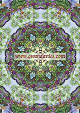 Viola e Verde Mandala Card, Compleanno, Saluti Hippy Boho BLANK CARD REGNO UNITO