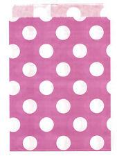 25 Pcs Pink Large Dots 5x7 Print Paper Gift Bags Favor Candy Shop