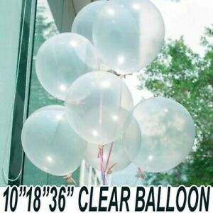 "Round Clear balloon Transparent 10""18""36"" inch Big Giant birthday Ballons decor"