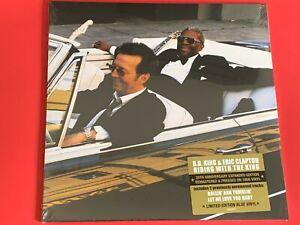 "ERIC CLAPTON B.B. KING "" RIDING WITH THE KING "" 2 LP, BLUE VINYL, LTD.ED."