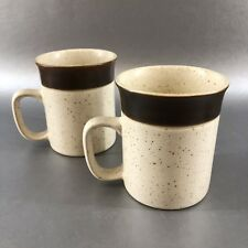 1 Of 2 Denby Potters Wheel Coffee Mugs Cups Clay Stoneware Vintage