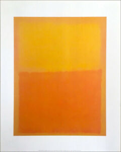 Orange and Yellow by Mark Rothco Art Print Poster (22x28)