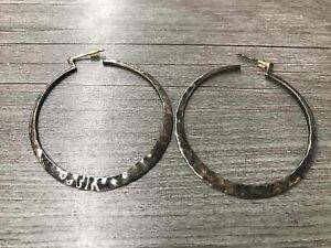 Sterling Silver Silpada Hammered Hoop Earrings