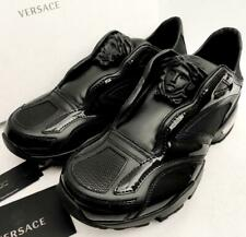 Versace Medusa Black Leather Trainers Sneakers Boots UK6-7 40-41 US7-8 New