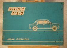 ANCIEN NOTICE D'ENTRETIEN VOITURE FIAT 128 DE 1969.