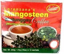 LORENZANA Mangosteen Malunggay (Moringa Oleifera) COFFEE, 252 grams 12 sachets