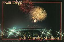 JACK MURPHY STADIUM POSTCARD~SAN DIEGO,C~PADRES & CHARGERS 1988 SUPER BOWL