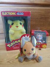 Vintage Pokemon Lot Electronic Talking Pikachu W/Box Mew Raichu Hasbro Nintendo