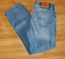 Levis 514 Straight Fit Jeans Blue Denim Mens Size 33x30 Red Tab Zip Fly