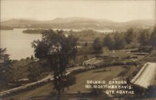 Belvoir Garden Mr. Mortimer Davis Ste Agathe Quebec Real Photo Postcard jrf