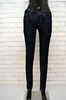 DIESEL Donna Jeans Alto in Vita Blu Slim Taglia 28 42 Pantalone Pants Woman