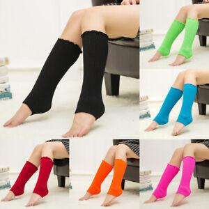 Women Leg Warmers Soft Crochet Knited Long Socks Ladies Boot Cuffs Winter