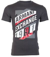 Armani Exchange Mens S/S T-Shirt AN-16 Designer CHARCOAL Casual M-L $45