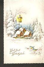 Old Brillant Christmas Greetings Postcard posted Winter God Jul Gott Nytt Ar