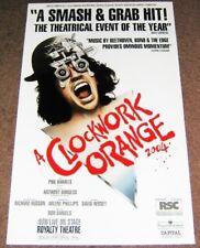 A Clockwork Orange 2004 U2 Phil Daniels Rare Poster Royalty Theatre London 1990