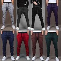 Mens Slim Fit Bottoms Skinny Casual Jogging Sport Sweat Pants Trousers Tracksuit