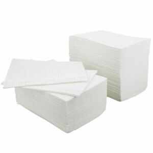 MonMed Large Dental Bibs Disposable 500 Pack in White - Disposable Patient Bibs