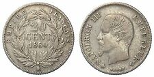 FRANCIA FRANCE 20 CENTIMES 1860 BB KM #778.2  ARGENTO/SILVER #7524
