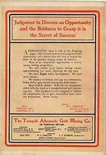 MINING CLAIMS NO BROKERS THE TONOPAH ALBEMARLE GOLD MINING COMPANY NEVADA 1903