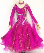 Ballroom Competition Dance Dress Hot Purple Waltz Standard Gown Custom Made HOT