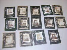 Lot of 11 Tiny Cabinet Photos Photobooth Style Portraits Parasols Hats 733